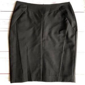 black WORTHINGTON lined PENCIL SKIRT EUC